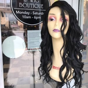 Accessories - Black Long Loose Curls Waves Wig Brand New
